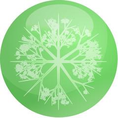 Snowflake globe