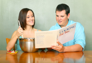 Caucasian Couple With Passion Of Cooking Or Baking