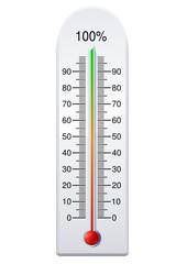 Thermomètre pourcentage (détouré)