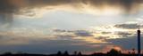 Overcast evening sky panorama poster