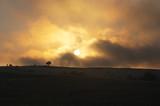 Overcast sunset poster