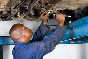 african mechanic at work