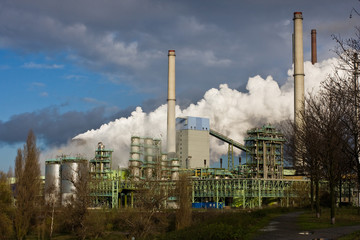 Raw steel industry in Duisburg, Germany