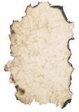 wrinkled  burnt paper poster