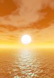 mare tramonto sfondo poster