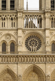 Facade of cathedral Notre Dame, Paris