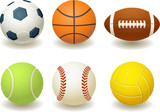 Balls for team sports poster