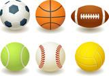Fototapety Balls for team sports