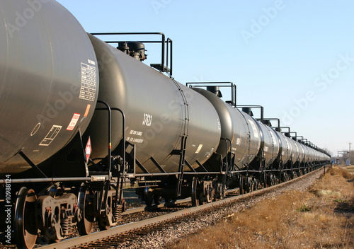Unit train of ethanol tank cars