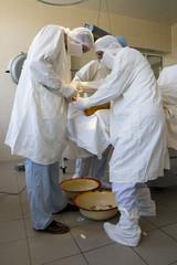 surgeon team at work