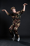 breakdancer in military uniform poster