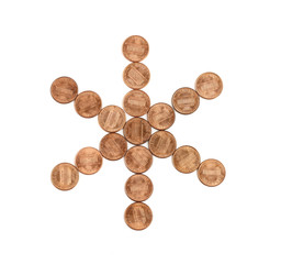 star of us one cent coins