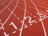 Athletic Track Markings poster