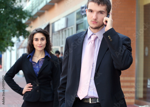 Business People on Phone, Team Work