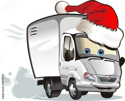 Vector Christmas delivery truck