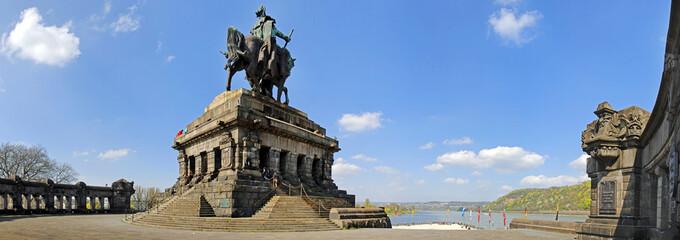 Koblenz, Deutsches Eck, Reiterstandbild, Kaiser Wilhelm 1