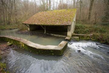 france,vallée de chevreuse : lavoir