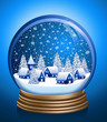 Shiny blue winter ball