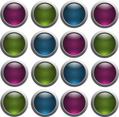 botões transparentes
