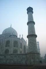Taj Mahal in the early morning mist