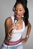 African American Woman Singing