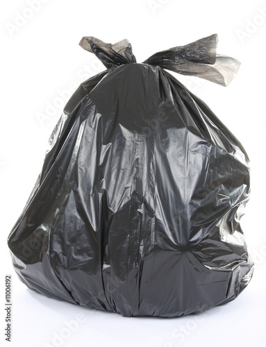 .garbage bag isolated on a white background
