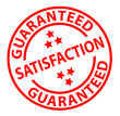 """Satisfaction Guaranteed"" ink stamp"
