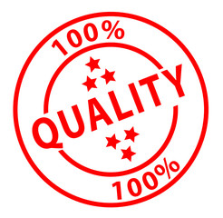 """100% Quality"" ink stamp (red)"