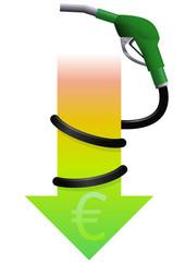 Carburant en baisse (euro)