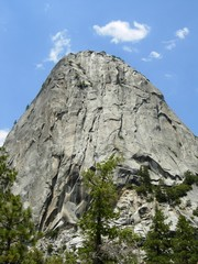 Large Rock Formation in Yosemite National Park, California