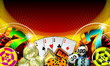 gambling illustration with casino elements - 11018362