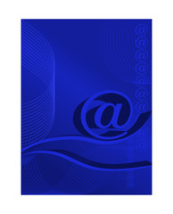 Abstract background about e-mail