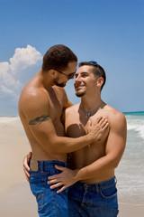 Gay men at the beach