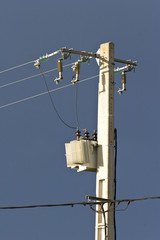 high voltage overhead power cables