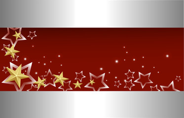 golden stars on metal background