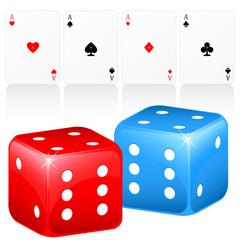 Glücksspiele - Karten und Würfel