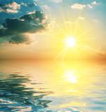 Fototapeta piękny - chmury - Morze / Ocean