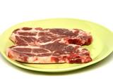 assiette de viande échine de porc poster