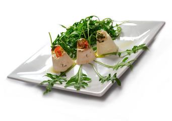 salade et terrine de poisson