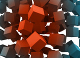 cubes falling with blank faces, so you can fill it - 11034108