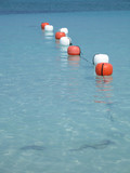buoys on the ocean poster