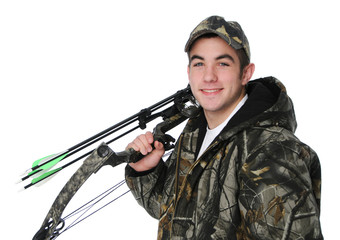 Young hunter with bow