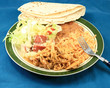 A real home cooked and server mexican meal by mom