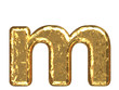Golden font. Letter 'm'.Lower case.