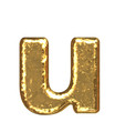 Golden font. Letter 'u'.Lower case.