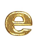 Fototapety Golden font. Letter 'e'.Lower case.