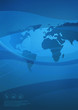 Globale Kommunikation-blau-hochkant
