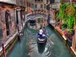 Leinwanddruck Bild - Gondoliere a Venezia
