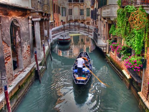 Leinwanddruck Bild Gondoliere a Venezia