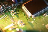 Processor chip on circuit board poster